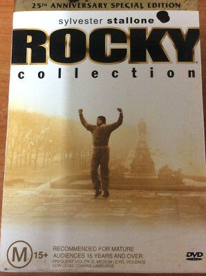 Rocky Collection 25th Anniversary Edition-5 Disc Set-Region 4 DVD Very Good Cond