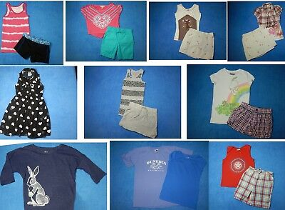16 piece lot of nice clean girls Spring Summer Clothing size 6-7 Everyday 3s42