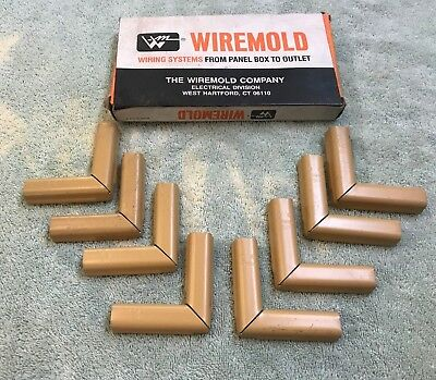 Lot of 8 Wiremold 511 90 degree flat Elbow - Color buff Raceway Flat Elbow