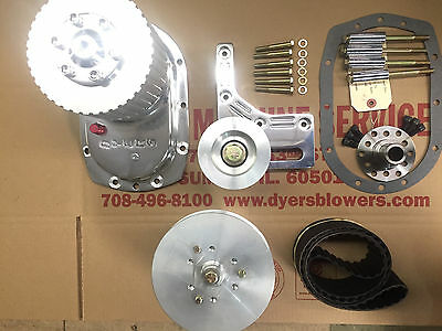 "671 SBC Small Block Chevy Dyer's 3"" Blower Drive Kit Polished New 6-71"