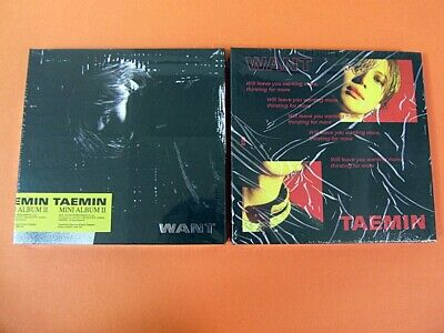 TAEMIN (SHINee) - WANT (Want Ver. + More Ver.) CD SET w/Tracking #  K-POP *NEW*