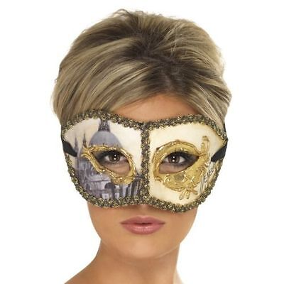 Men's Women's Venetian Colombina Face Mask Fancy Dress Masquerade Halloween Fun