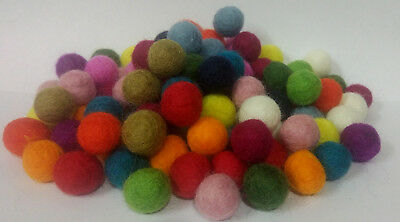 Size 1.5 cm Bright Multicolored Pom Pom Felt Balls Woolen Choose quantity DIY