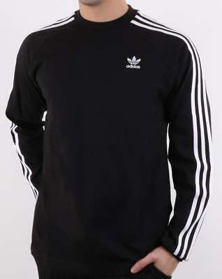 Adidas Long Sleeve T Shirt in Green 3 Stripe Originals with trefoil logo