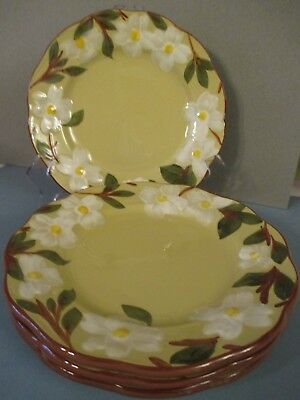 """STANGL WHITE DOGWOOD - 10"""" Dinner Plate - Eight Available"""