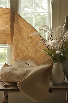 Linen Organic upholstery fabric Antique heavy weight 17 YARD bolt natural WASHED
