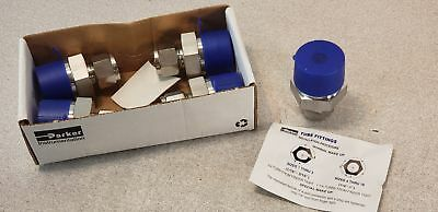 """Box of (5) Parker 8MSC16N-316 A-lok Male Connector 316SS 1/2"""" Tube Fittings"""