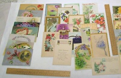 30 vintage POST CARDs - HAPPY BIRTHDAY - older used / not posted POSTCARDS