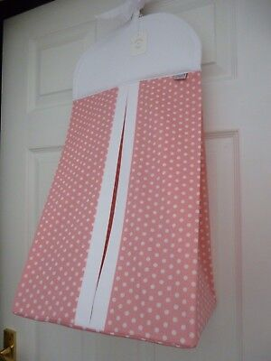 Baby Nappy Stacker - Pink/White SPOT with White Trim -  Baby Shower -  Gift -NEW