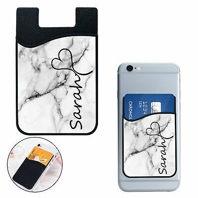 Personalised Silicone Mobile Phone Wallet Credit Card Stick Adhesive Holder 01-3
