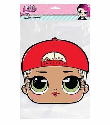 MC Swag LOL Surprise 2D Card Party Face Mask Fancy Dress Up lol doll Official