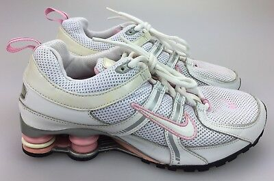 hot sale online 10277 d1c55 Nike Shox Pink Gray White Athletic Lace Up Sneakers Youth 5 Size 5Y