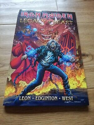 SIGNED Iron Maiden Legacy of the beast Full Comic Volume 1 exclusive, limited