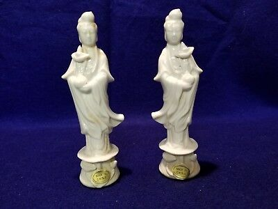 "Vintage Chinese Porcelain Figures ""Kwun-yin"" 5 inches."