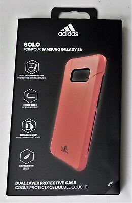 NEW ADIDAS SOLO Dual Layer Protective Case for Samsung Galaxy S8 PinkPurple