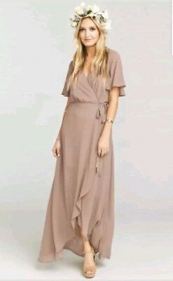 Show Me Your MuMu Sophia Wrap Dress in Dune sz. Small