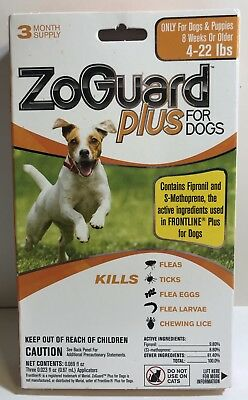 ZoGuard Plus Flea and Tick Treatment for Dogs 4-22 lbs.