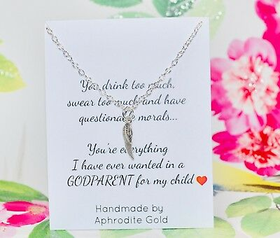 Will You Be My GodParent Funny Gift Godmother Godfather Christening Baptism BF8