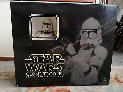 Star Wars Gentle Giant Clone Trooper Deluxe Bust + At-Te Accessory Pack