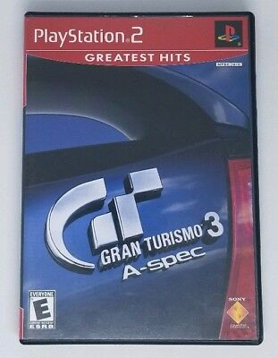 Gran Turismo 3 A-spec Greatest Hits (Sony PlayStation 2, 2002) PS2 Video Game