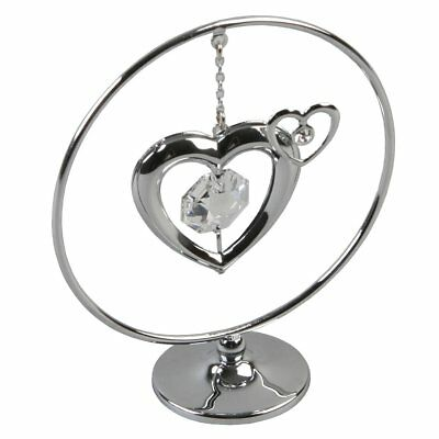 Silver Love Heart Shaped Sentimental Friendship Gifts Swarovski Crystal Elements