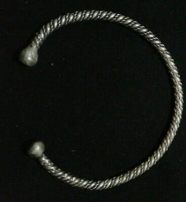 RARE VIKING twisted SILVER BRACELET Ancient BRACELET