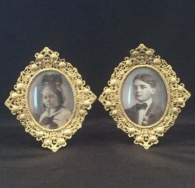 Pair Of Beautiful &  Decorative Ornate Oval Picture Frames