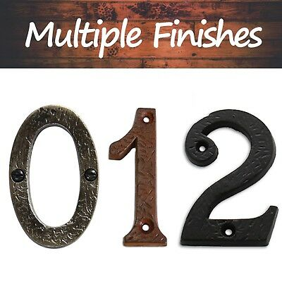 """3"""" Tall Iron House Numeral 
