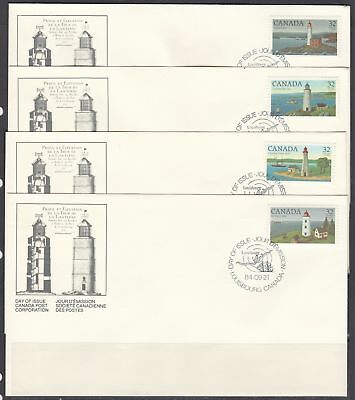 Canada Scott 1032-5 FDC - Canadian Lighthouses