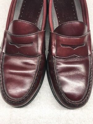 c1bf6446ff6 JOHNSTON MURPHY PANNELL Penny Loafers Burgundy Men s Size 12 D  20 ...