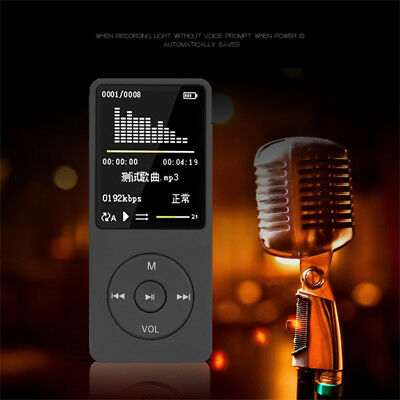 70 Hours 8GB Playback MP3 MP4 Lossless Sound Music Player FM Recorder TF Card US
