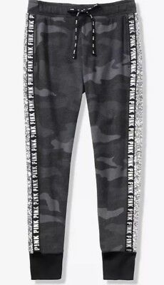 new varieties selected material cozy fresh VICTORIA'S SECRET PINK Sequin Bling Skinny Jogger Pants Gray Camo NWT Sz M