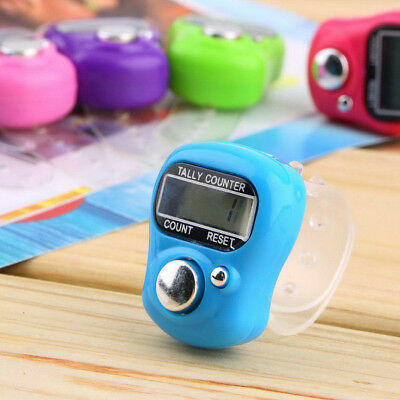 Digital Finger Ring Tally Counter Hand Held Knitting Row Counter For Golf  Sport