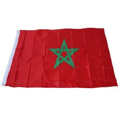 3X5 Morocco National Polyester Flag 3'X5' 3Ft X 5Ft Moroccan New Design F702