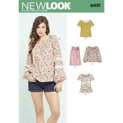 New Look Ladies Easy Sewing Pattern 6516 Tiered Skirts NewLook-6516