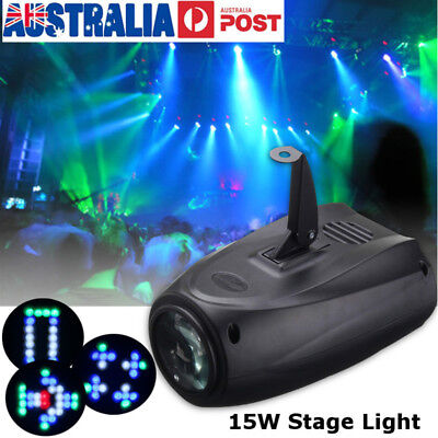 64 LED RGBW Projector Effect Strobe Stage Light Auto/Sound Active Club Disco