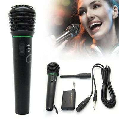 H60 Wired or Wireless Mic Handheld Microphone 2in1 Receiver System Undirectional