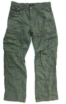 Fred Bare Cargos Army Green Boys Size 10