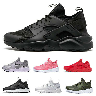 Uk Mens Womens Trainers Lace Up Sports Running Gym Casual Shoes Breathable Size