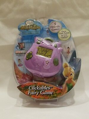 Disney Fairies Pixie Hollow Handheld Clickable Fairy Game w/ 5 Games New in Pkg