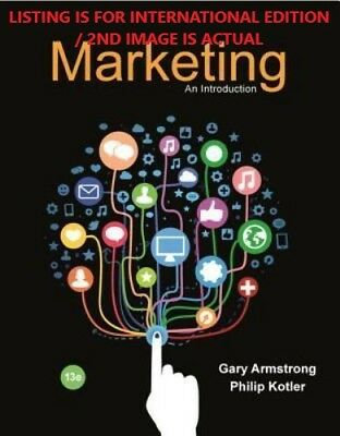 FAST DELIVERY - Marketing: An Introduction by Armstrong, 13TH INTERNATIONAL ED.