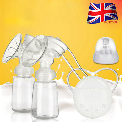 Safety Electric Breast Pump Automatic Double IntelligentT Baby Feeder USB UK