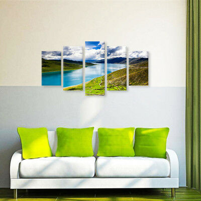 Mountain Lake Modern Wall Painting Canvas Unframed Art Print Picture Home Welt