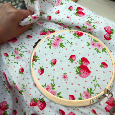 6 Size Round Handy Wooden Cross Stitch Machine Embroidery Hoop Ring UB