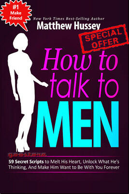 How To Talk To MEN: 59 Secrets Scripts to Melt his Heart PDF + Resell Rights