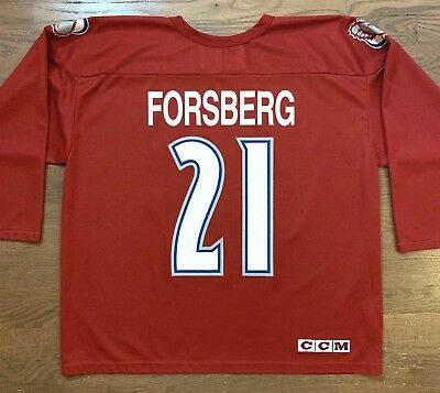 377736122 VTG Peter Forsberg  21 CCM Center Ice Colorado Avalanche Jersey Hockey Mens  XL
