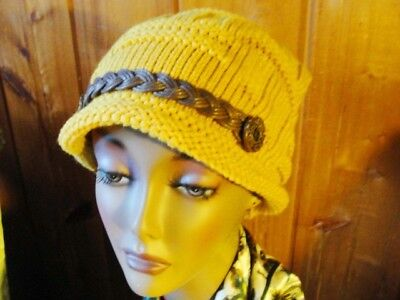 Womens 100% Wool Beanies Skull Hats Slouchy Baggy Knit Winter Cap -FREE Shipping