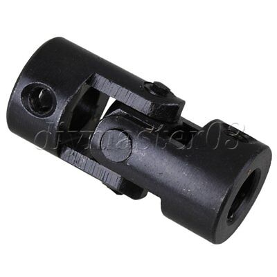 Black Metal Rotatable Black Industrial Universal Joint Coupling  20mm x 45mm