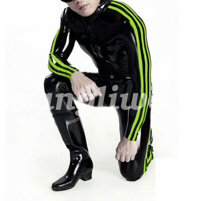 New 100% Latex Rubber Man Handsome All-body Suit Bodysuit Catsuit Size S-XXL