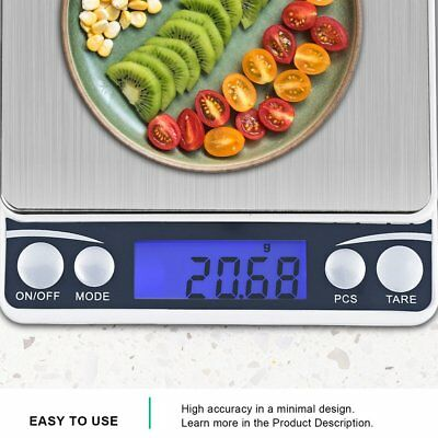 Multifunctional Lcd Electronic Digital Scale 0.1G/0.01G Kitchen Weight Scales UB